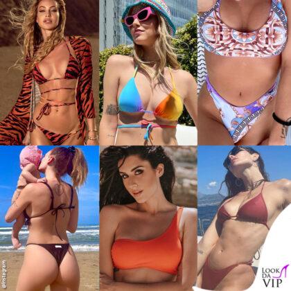 Tutte in bikini: Taylor Mega Chiara Ferragni Silvia Provvedi Giulia Provvedi Valentina Vignali Dayane Mello