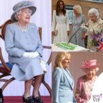 la regina elisabetta con i look floreali per il G7