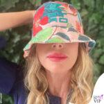 Alessia Marcuzzi cappello Etro