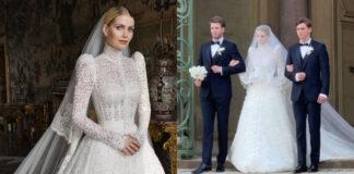 Kitty Spencer nozze Lewis abito da sposa Dolce Gabbana