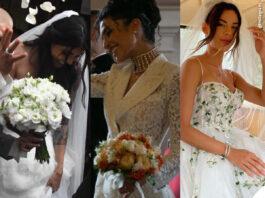 Calciatori a nozze: abito da sposa di Veronica Ciardi Jessica Aidi Giulia Amodio