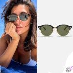 Elisa Isoardi occhiali da sole Ray Ban
