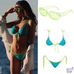 Francesca Sofia Novello occhiali da sole Stella Bloom bikini Envidiame