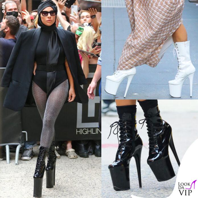 Lady Gaga New York trampoli