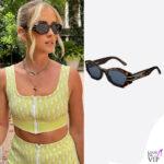 Valentina Ferragni occhiali da sole Dior