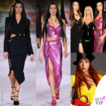 Dua Lipa Donatella Versace Gigi Hadid sfilata Versace