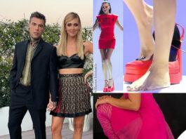 scarpe Versace Fedez Chiara Ferragni Addison Rae Elodie