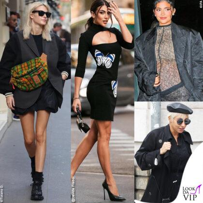 le star che scelgono di vestire nero per la strada